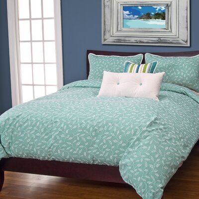 Tropics Ilse Waters Duvet Cover Set Size: Queen