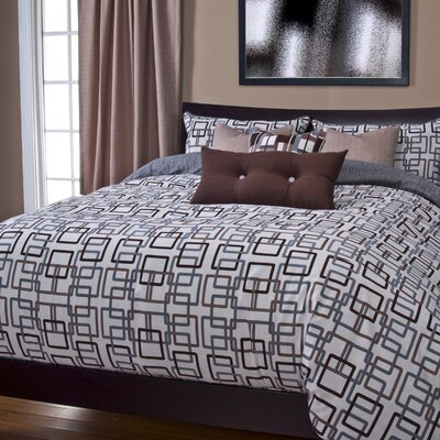 Alaina Edgewater Duvet Cover Set Size: California King, Color: Sand