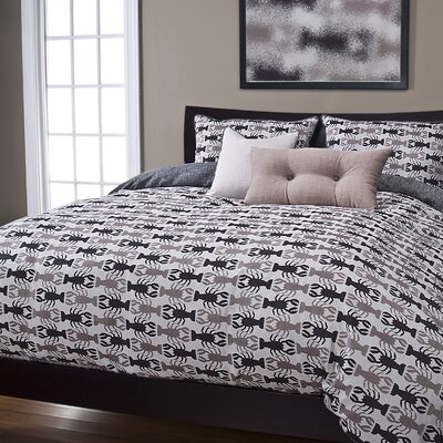 Johnstown Crustacean Duvet Cover Set Size: King, Color: Sand