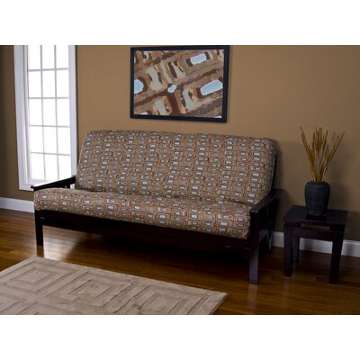 Zipper Box Cushion Futon Slipcover Size: 7 in. Full
