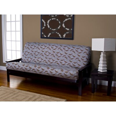 Zipper Futon Slipcover with Cushion Size: 6 in. Full