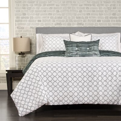 Interweave 5 Piece Reversible Duvet Cover Set Size: Twin
