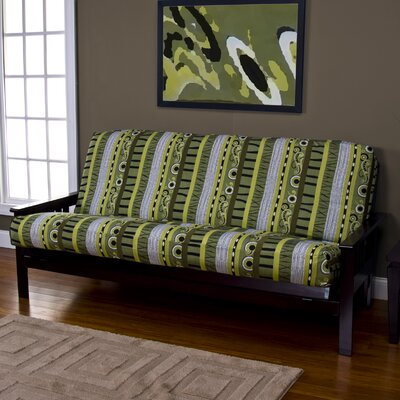 Arent Zipper Box Cushion Futon Slipcover Size: 7 in. Full