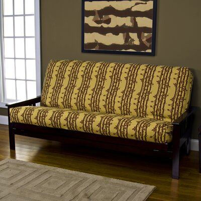 Yellow Pattern Zipper Futon Slipcover Size: Queen