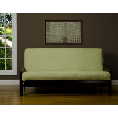 Box Cushion Futon Slipcover Size: 6 in. Full, Upholstery: Hillside