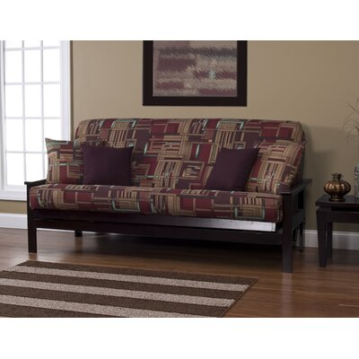 Dean Box Cushion Futon Slipcover Size: 7 in. Full