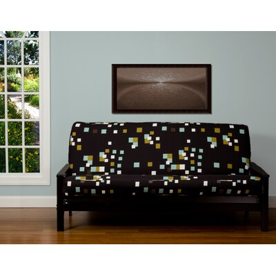 Pattern Zipper Box Cushion Futon Slipcover Size: 7 in. Full