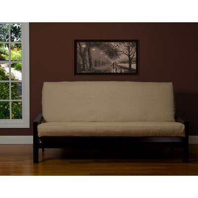 Box Cushion Futon Slipcover Size: 7 in. Full, Upholstery: Flax