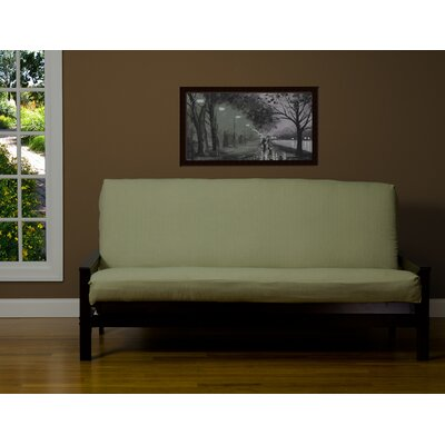Box Cushion Futon Slipcover Size: 7 in. Full, Upholstery: Sage