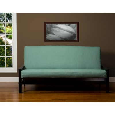 Box Cushion Futon Slipcover Size: Twin, Upholstery: Teal