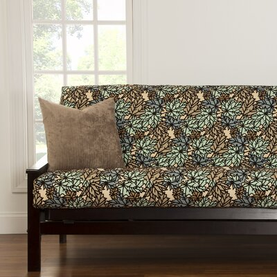 Talia Box Cushion Futon Slipcover Upholstery: Spa