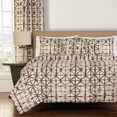 Farrah 4 Piece Reversible Duvet Cover Set Size: King