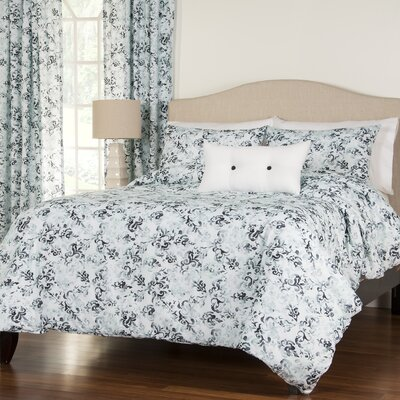 Arthurson 4 Piece Reversible Duvet Cover Set Size: Queen