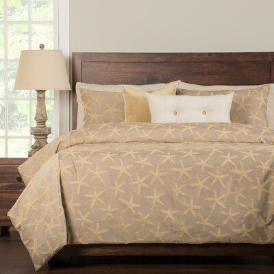 Sea Star Duvet Cover Set Size: California King