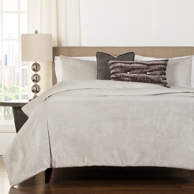 Glitz Silver Duvet Cover Set Size: Full