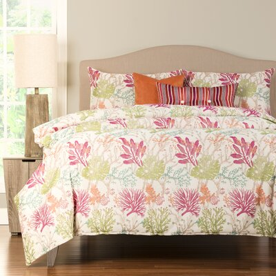 Coral Garden Duvet Cover Set Size: Twin