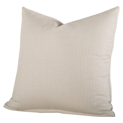 Linen Pillow Size: 26, Color: Cream