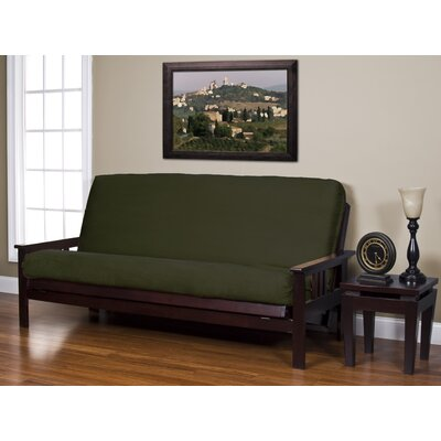 Arsenal Box Cushion Futon Slipcover Size: Queen, Upholstery: Basil