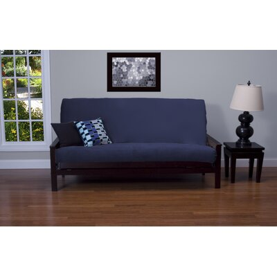Arterbury Box Cushion Futon Slipcover Size: 7 in. Full, Upholstery: Deep Blue