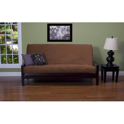 Arterbury Box Cushion Futon Slipcover Size: 6 in. Full, Upholstery: Sequoia