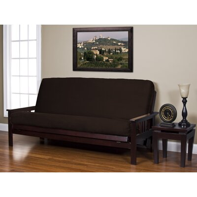 Arsenal Box Cushion Futon Slipcover Size: Queen, Upholstery: Java