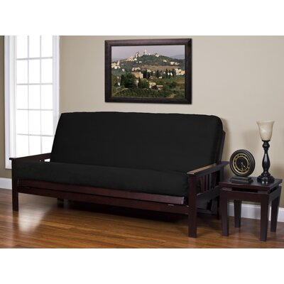 Arsenal Box Cushion Futon Slipcover Size: Queen, Upholstery: Noir