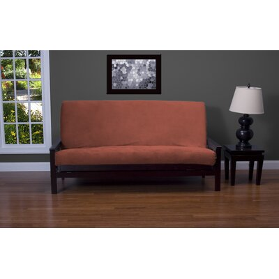 Arterbury Box Cushion Futon Slipcover Size: 7 in. Full, Upholstery: Bright Rose