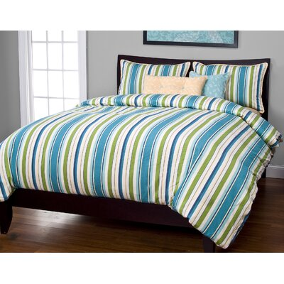 Anton Duvet Cover Set Color: Carribean, Size: King