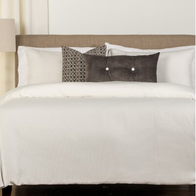 Abner Duvet Set Color: Shell, Size: King
