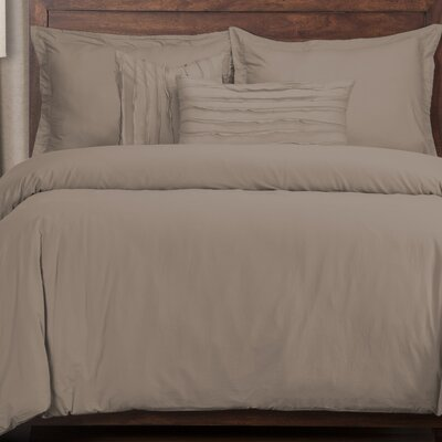 Classic 5 Piece Duvet Cover Set Color: Haze