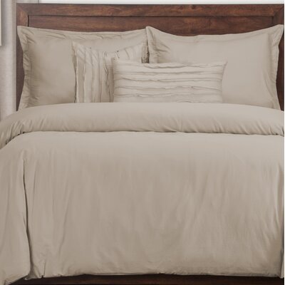Classic 5 Piece Duvet Cover Set Color: Almond