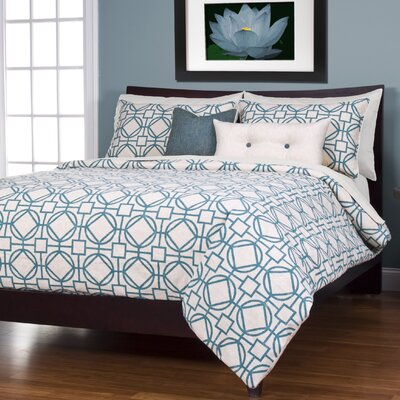 Applewood Duvet Cover Set Color: Turqouise, Size: Full