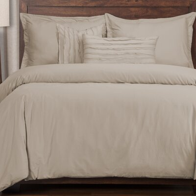 Classic 6 Piece Duvet Cover Set Color: Almond, Size: King