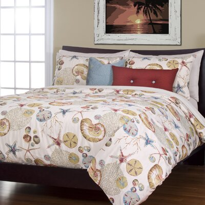 Swindon Duvet Cover Set Size: California King, Color: Coral
