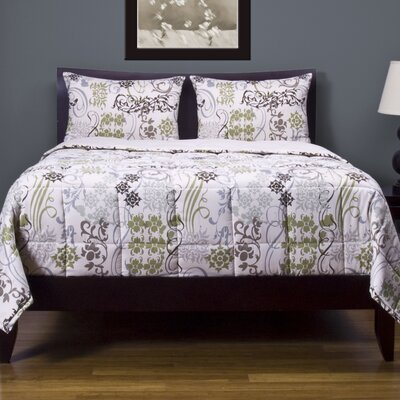Deborah 3 Piece Reversible Duvet Cover Set Size: Queen