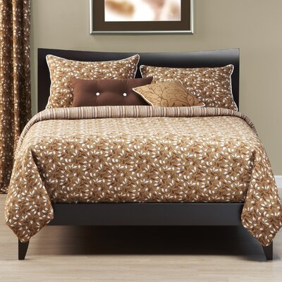 Delphia 5 Piece Reversible Duvet Cover Set Size: King