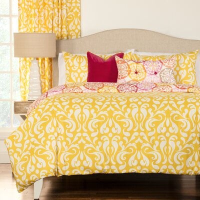 Olivia Reversible Duvet Cover Set Size: King