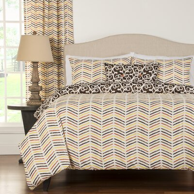 Degory 4 Piece Reversible Duvet Cover Set Size: Full