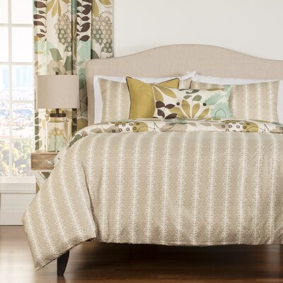 Arciniega 5 Piece Reversible Duvet Cover Set Size: Queen
