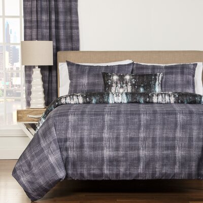 Madalyn 4 Piece Reversible Duvet Cover Set Size: Queen