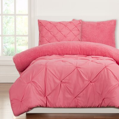 Crayola Dream Comforter Set Size: Twin, Color: Cotton Candy
