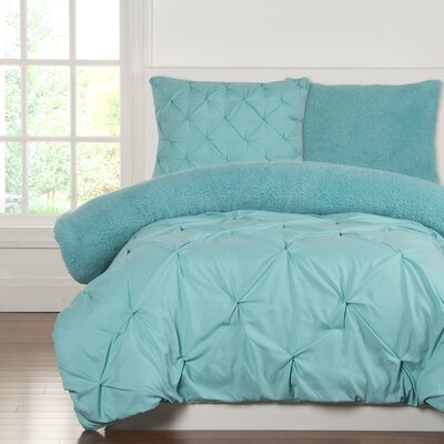 Crayola Dream Comforter Set Size: Full/Queen, Color: Robins Egg Blue