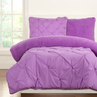 Crayola Dream Comforter Set Size: Twin, Color: Vivid Violet
