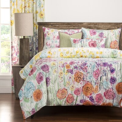 Whimsical Wildflowers Duvet Cover Set Size: Twin