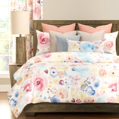 Polka Dot Poppies 5 Piece Duvet Cover Set Size: California King