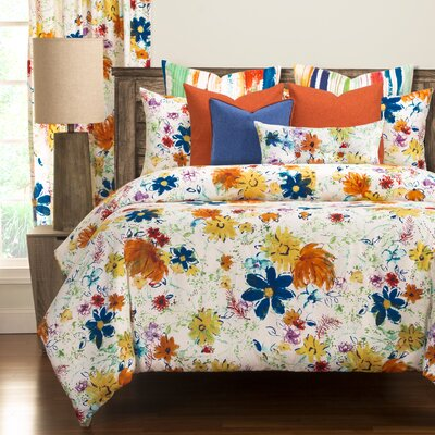 Modern Meadows Luxury Duvet Cover Set Size: King