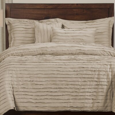Tattered 6 Piece Duvet Cover Set Color: Almond, Size: King
