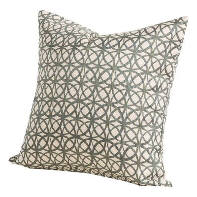 Suncrest Throw Pillow Size: 20 H x 20 W x 6 D, Color: Baltic