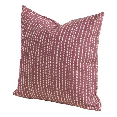 Johnsie Throw Pillow Size: 16 H x 16 W x 6 D, Color: Plum
