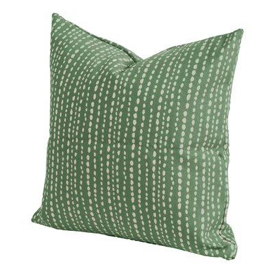 Johnsie Throw Pillow Size: 26 H x 26 W x 6 D, Color: Emerald